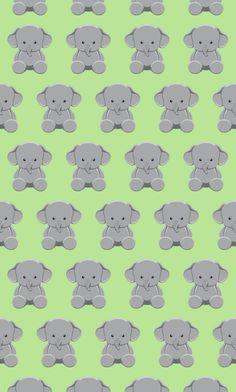 Cute baby elephant phone wallpaper
