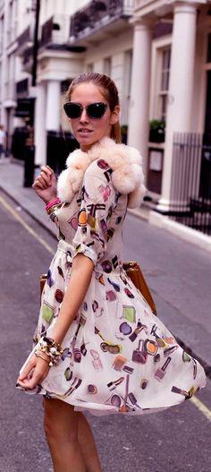Luxury street style.  Moschino dress~::M::