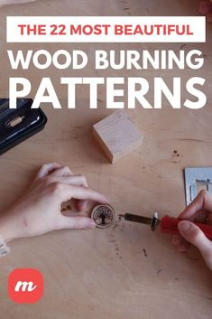 The 22 Most Beautiful Wood Burning Patterns,If you are into pyrography, then you might need some new patterns for your work. We put together a list of the 22 most beautiful printable patterns fo. Wood Burning Tips, Wood Burning Techniques, Wood Burning Crafts, Wood Burning Patterns, Wood Crafts, Wood Burning Projects, Diy Crafts, Yarn Crafts, Paper Crafts