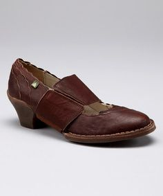 Love this Brown Scalloped Leather Mary Jane - Women by El Naturalista on #zulily! #zulilyfinds