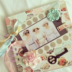 Downton Abbey shabby chic journal pastel colors by fairybootique, $25.00
