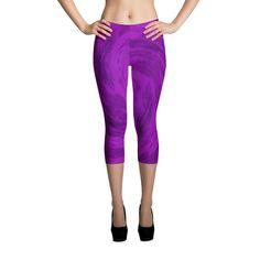 Purple Swirl Capri Leggings