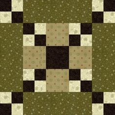 "Use Five Patch Chain Quilt Blocks to Create a Unique Linking Appearance: How to Make 10"" Five Patch Chain Quilt Block"