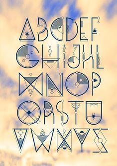 Aztec Typeface Design Aztec Typeface Design – Graffiti World Creative Lettering, Lettering Design, Hand Lettering, Logo Design, Fonte Alphabet, Alphabet Design, Typography Alphabet, Typography Fonts, Writing Fonts