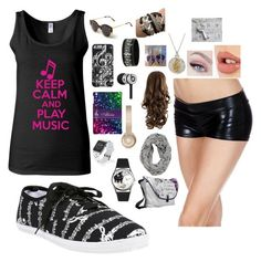 """""""I Got the Music in Me"""" by dani-rey897 on Polyvore featuring Music Notes, Illesteva, Beats by Dr. Dre, Casetify and Charlotte Tilbury"""