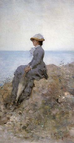On the Sea Shore Nicolae Grigorescu Wholesale Oil Painting China Picture Frame 30767 Famous Artists, Great Artists, Winslow Homer, Art World, Oeuvre D'art, Female Art, New Art, Painting & Drawing, Art History