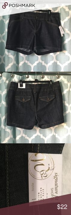 🆕LISTING- DressBarn Denim Shorts NWT and unworn. Perfect condition. Just too big now. I lost weight and never wore them Dress Barn Shorts Jean Shorts