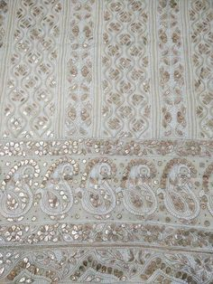 Off White Chikankari Suit with Heavy Gota Patti Work( Kurta and Dupatta)
