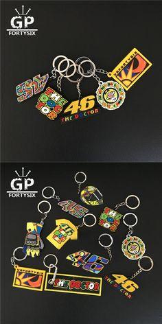 GPFORTYSIX New Keychain VR46 the doctor Valention Rossi 46 team fans souvenir gift MOTOGP 3D PVC Rubber keyring llavero keychain