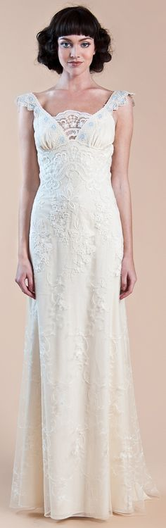 Claire Pettibone Fall 2012 wedding gown   style is waverly   see more on blog