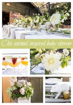 Chic animal-inspired baby shower party on prettymyparty.com.