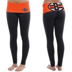 Cleveland Browns Ladies Sublime Knit Leggings - Black/Orange