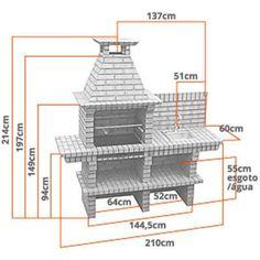 plans de barbecue extérieur | Plan de barbecue en brique
