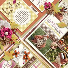Kit- Autumn Leaves | Collection by akizo designs Template- Playing With Journal Cards #3 in Grab Bag DSD 2014 by akizo designs Also available as Autumn Leaves | Quickpages #2 photo by photoxpress