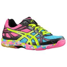 Yup- next on my list to get!!  ASICS® Gel-Flashpoint - Women's - Volleyball - Shoes - Black/Neon Yellow/Hot Pink