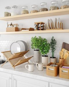 Finding Clear-Cut Plans In Simple Kitchen Decor Inspiration - Deborah Remodel Kitchen Furniture, Kitchen Decor, Wooden Furniture, Ultra Modern Homes, Kitchen Colour Schemes, Decorate Your Room, Leroy Merlin, Autumn Home, Home Living Room