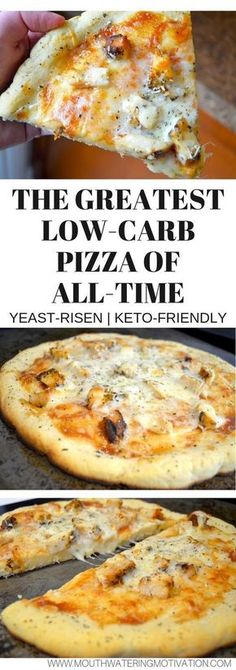 keto recipes BEST EVER delicious low carb pizza made with yeast! This is the CLOSEST you will get with a keto-friendly low carb pizza crust! Ketogenic Recipes, Diet Recipes, Cooking Recipes, Pescatarian Recipes, Recipies, Cooking Games, Cooking Classes, Smoothie Recipes, Delicious Recipes