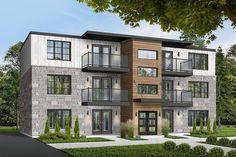 6-Unit Modern Multi-Family Home Plan - 21603DR | Architectural Designs - House Plans