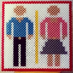 Toilet sign perler beads by red_sunlight