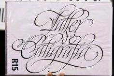 "Ricardo Rousselot. Translates to ""Calligraphy Workshop"""