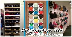 I want to share some practical ideas to keep the caps of your partner in order as it is super indispensable to keep the home in order and do not overlook the things and accessories of your partner so I hope you serve these little tips. Ball Cap Storage, Hat Organization, Organize Hats, Shoe Rack, Tips, Home, Accessories, Ideas, Shoe Racks