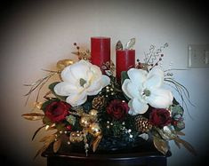 Image result for large christmas floral arrangements