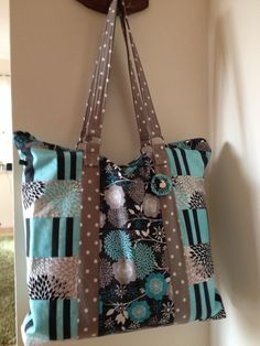 schicke Einkaufstasche Shopper  von KrebsWelten auf DaWanda.com