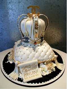 Crown Cake Pretty Cakes Lovely !!!  Gorgeous !!!