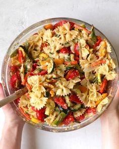 This delicious Healthy Pasta Primavera recipe is studded with flavorful and seasonal vegetables, Garlic Herb Butter and Parmesan cheese. Switch up the noodles based on what you have on hand. Be sure to watch the recipe video too! Healthy Recipe Videos, Healthy Crockpot Recipes, Vegetable Recipes, Vegetarian Recipes, Veggie Pasta Recipes, Vegetable Entrees, Pasta Primavera, Healthy Pasta Dishes, Healthy Pastas