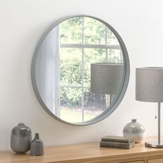 View Malaga Deep Circular Grey Mirror product from Soraya Interiors UK, See more products like this and more wall mirror categories Grey Wall Mirrors, Hallway Mirror, Living Room Mirrors, Round Wall Mirror, Round Mirrors, Bedroom Mirrors, Framed Mirrors, Cheap Mirrors, Mirrors For Sale