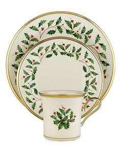 Lenox Holiday Dinnerware Set, Service for 4 Product Features dinnerware set, service for 44 each: dinner plate, salad plate, and mugThe most popular holiday china patternCrafted of Lenox ivory bone china accented . Lenox Christmas Dishes, Lenox Dishes, Christmas Dinnerware Sets, Christmas China, Christmas Holidays, Christmas Tablescapes, Merry Christmas, Christmas Place, Christmas Kitchen