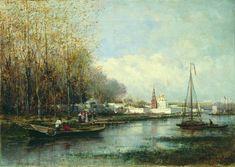 Монастырь. 1860-е. Боголюбов Алексей Петрович
