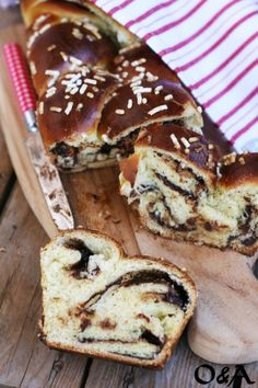 Pan brioche con nocciolata