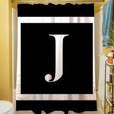 Manual Woodworkers & Weavers Classic Block Monogram Shower Curtain Color: Eggplant, Letter: K