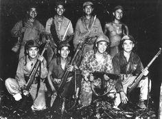 US Marine code talkers on Bougainville Solomon Islands December 1943. Credit: USMC.