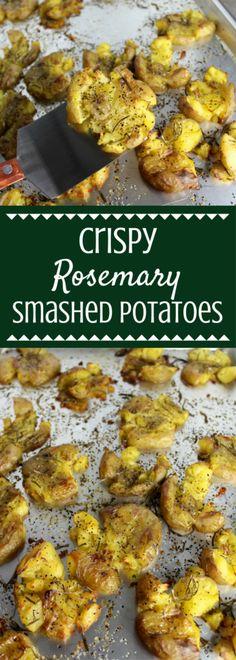 Crispy Rosemary Smashed Potatoes