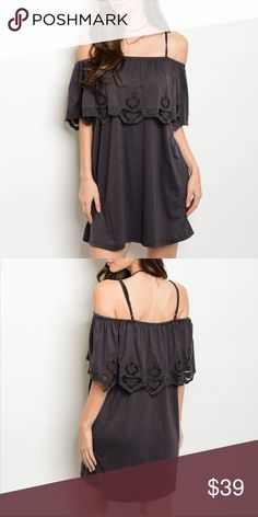 """Off shoulder dress NEW BOUTIQUE ITEM - FINAL PRICE NOT FP 95% POLYESTER 5% SPANDEX L: 33"""" B: 36"""" W: 46"""" Free People Dresses"""