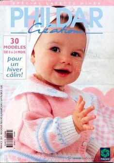Revista *PHILDAR LAYETTE Nº 273* HIVER 1995-96 - Punto Bebés - 30 Modèles -- Texto Francés - Vintage