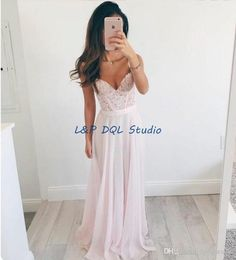 Blush Evening Dresses Pleats Chiffon Floral Applique With Beads On The Top Long Prom Dresses Cheap Evening Wear Evening Long Dresses Uk Evening Maxi Dresses Online From Lpdqlstudio, $86.27| Dhgate.Com