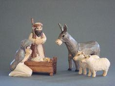 hand-carved nativity