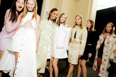 Carven Spring 14 Backstage