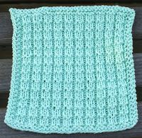 Knit with KT: Waffle Stitch Washcloth
