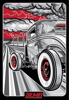 New print for SEMA 2013 available exclusively at FEAR IS THE NEW BEAUTY - MAX GRUNDY - Online Store
