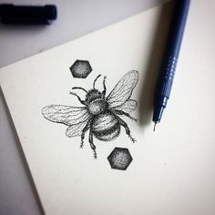 Dotwork bumble bee