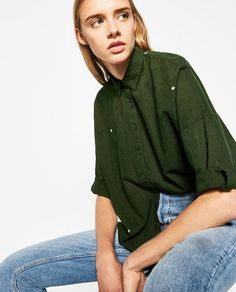 OVERSIZED EMBROIDERED SHIRT - Available in more colours