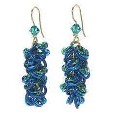 Ruffled rings: chain mail earrings - Jewelry Store