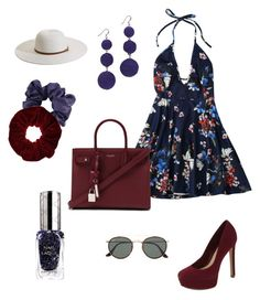 """Patriotic Floral"" by mariahasdf on Polyvore featuring Yves Saint Laurent, ALDO, Ray-Ban, By Terry, Kenneth Jay Lane, Melissa Odabash and Miss Selfridge"