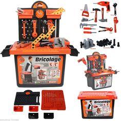 Kids Construction Set Tool Bench Work Playset Toy DIY Tools Builder Fun Gift New