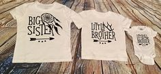 Sibling Shirt Set Big/Little/Littlest Brother or Sister by Craftigators on Etsy https://www.etsy.com/listing/521324021/sibling-shirt-set-biglittlelittlest