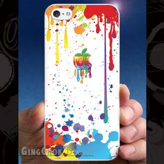 iPhone 5 case iPhone 5s case splashing apple iPhone by gingchok, $12.50